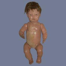 Antique Doll Schoenhut Baby Doll Needs TLC Original Wig