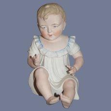 Wonderful Doll Bisque Piano Baby  Doll Peek- a -Boo Nightie