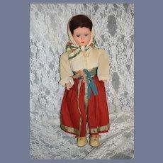 Old French Doll Michele Parys Paris Doll Papier Mache Original Label