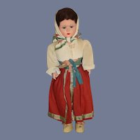 Old French Doll Michele Parys Paris Doll Papier Mache Original Label