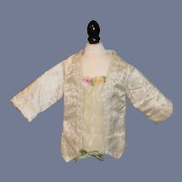 Sweet Doll Vintage Jacket French Market Gorgeous Trim Fancy Hand Made Pearl Artist PEARL