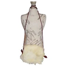 White Fur Doll Arm Warmers
