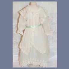 Antique Doll Dress French Market Lace Wonderful
