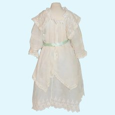 Antique Doll Dress French Market Lace Wonderful