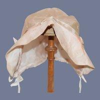 Beautiful Light Pink Cloth Doll Bonnet