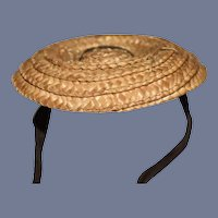 Miniature Woven Straw Doll Sun Hat