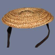 Miniature Woven Straw Doll Sun Hat