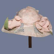 Miniature Pink Doll Flower Hat