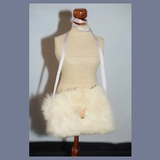 Old Fashion Doll Fur Muff Miniature Fashion Doll