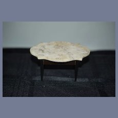Antique Doll Marble Top Table Miniature Dollhouse