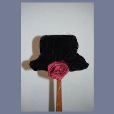 Sweet Velvet Doll Bonnet Hat