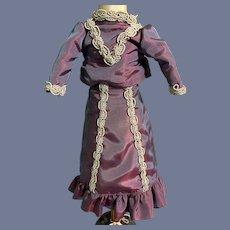 Sweet Vintage Hand Made Fashion Doll Dress Top Skirt