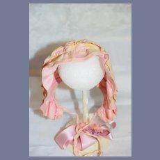 Old Doll Bonnet Cap Hat Sweet