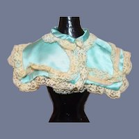 Vintage Fancy Doll Lace Satin Cape Shawl