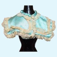 Vintage Fancy Doll Lace Satin Cape Shawl