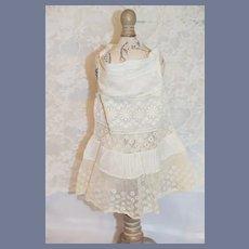 White Flower Detailed Doll Dress