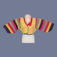 Rainbow Embroidered Doll Jacket