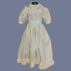 Old Cotton & Lace Doll Dress Sweet Hand Made