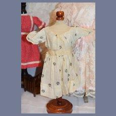 Cream Quarter Sleeved Length Doll Dress