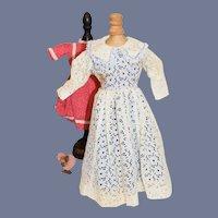 White Flower Crochet Doll Dress