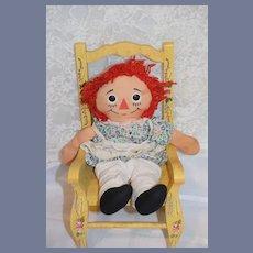 Raggedy Ann Doll Cloth Doll Rag Doll Button Eyes Sweet Look
