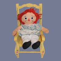 Raggedy Ann Doll Cloth Doll Rag Doll Button Eyes Sweet Look