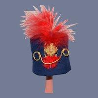 Navy Blue Miniature British Soldier Doll Hat