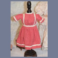 Pink Flower Printed Doll Dress