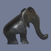 Miniature Wood Carved Elephant