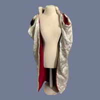 Reversible Sparkly Silver and Pink Velvet Doll Coat