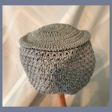 Light Blue Knit Doll Hat