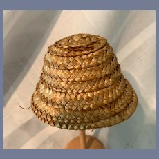 Miniature Woven Straw Doll Hat
