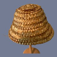 Miniature Woven Straw Doll Hat