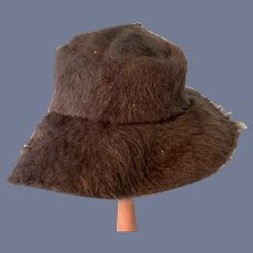 Unique Brown Fuzzy Doll Hat