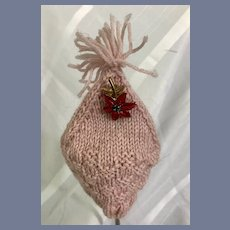 Pink Knit Doll Beanie