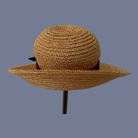Beautiful Miniature Doll Straw Bonnet