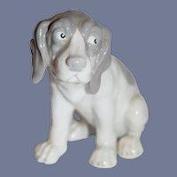 Vintage Dog Heubach Glazed Wonderful