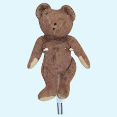 Old Teddy Bear Jointed Mohair Brown Bear TLC Sweet