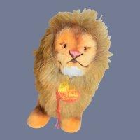 Vintage Steiff Lion W/ Button Tag Leo 0305/13 Tag
