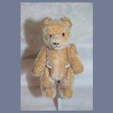 Little Light Brown Stuffed Bear with Gold Glass Eyes