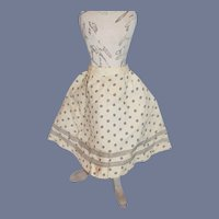 Navy Blue And Cream Star Patterned Doll Skirt