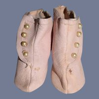 Miniature Pink Leather Boots