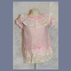 Pink and White Lace Detail Doll Dress