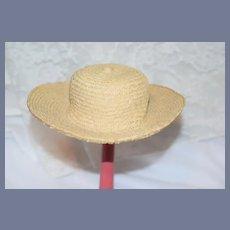 Woven Straw Doll Sun Hat