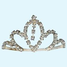Vintage Doll Petite Rhinestone Crown Fancy Tiara