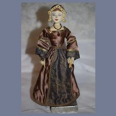 Old Doll Jane Seymour Queen of England Third Wife of Henry VIII Saroff Original English Sculpture