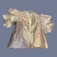 Antique Doll Jacket Double Flutter Sleeves High Neck French Market