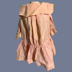Old Doll Dress Gingham Drop Waist
