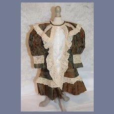 Sweet Vintage Artist Doll Dress Fancy French Market