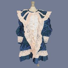Gorgeous Vintage Doll Dress Artist Made French Market Drop Waist